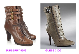 Botines estilo british 8 Burberry vs Guess