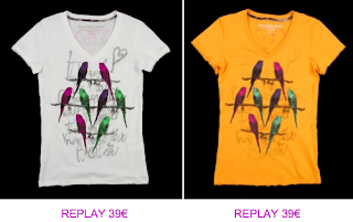 Replay camisetas