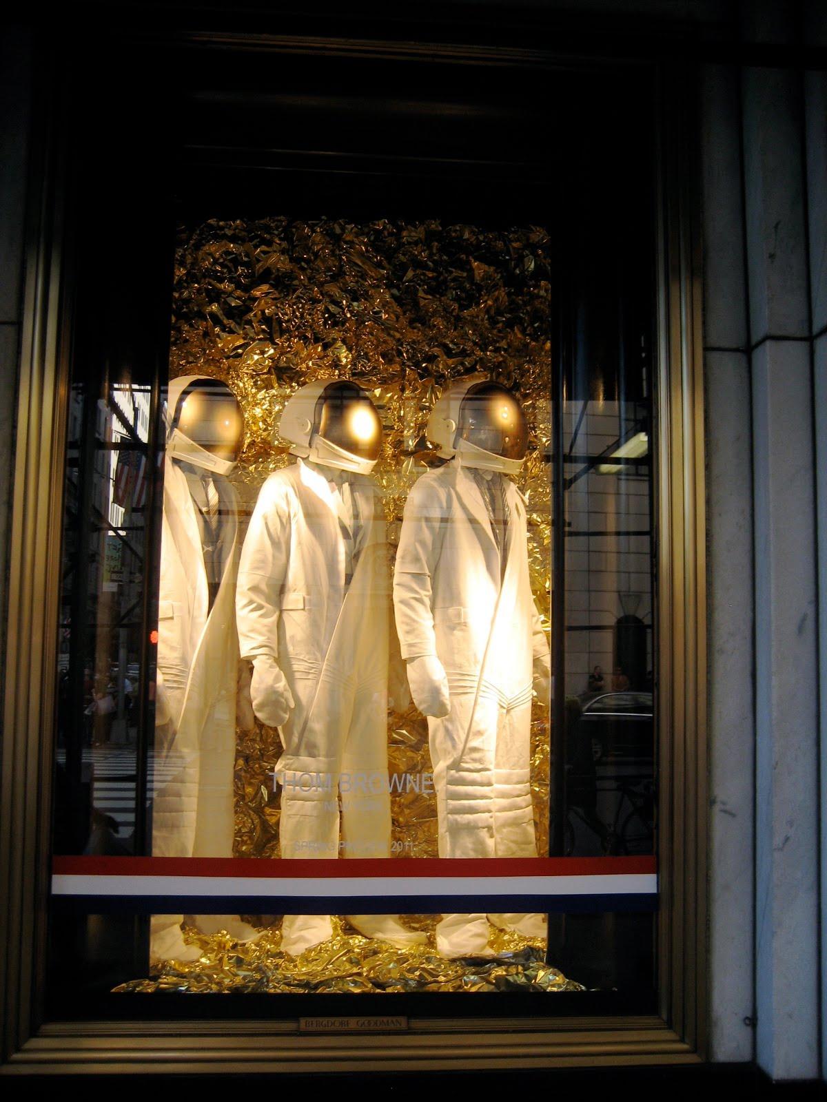 Thom browne windows at bergdorf goodman nyc