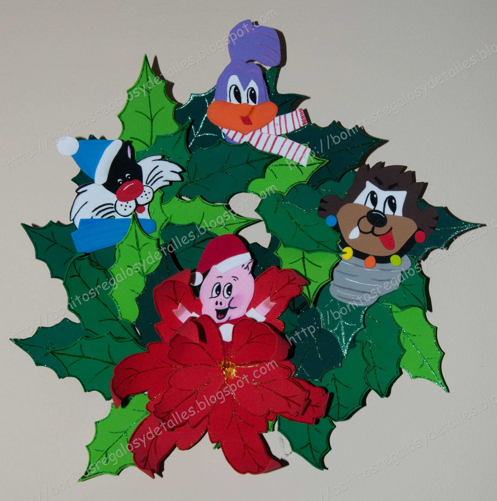 Bonitos regalos y detalles adorno navidad puerta - Adorno puerta navidad ...