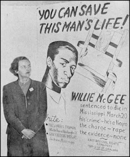 Jessica Mitford with Willie McGee Poster