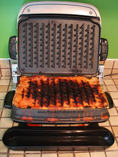 thanks mail carrier george foreman evolve grill review bonus delicious brownie recipe. Black Bedroom Furniture Sets. Home Design Ideas