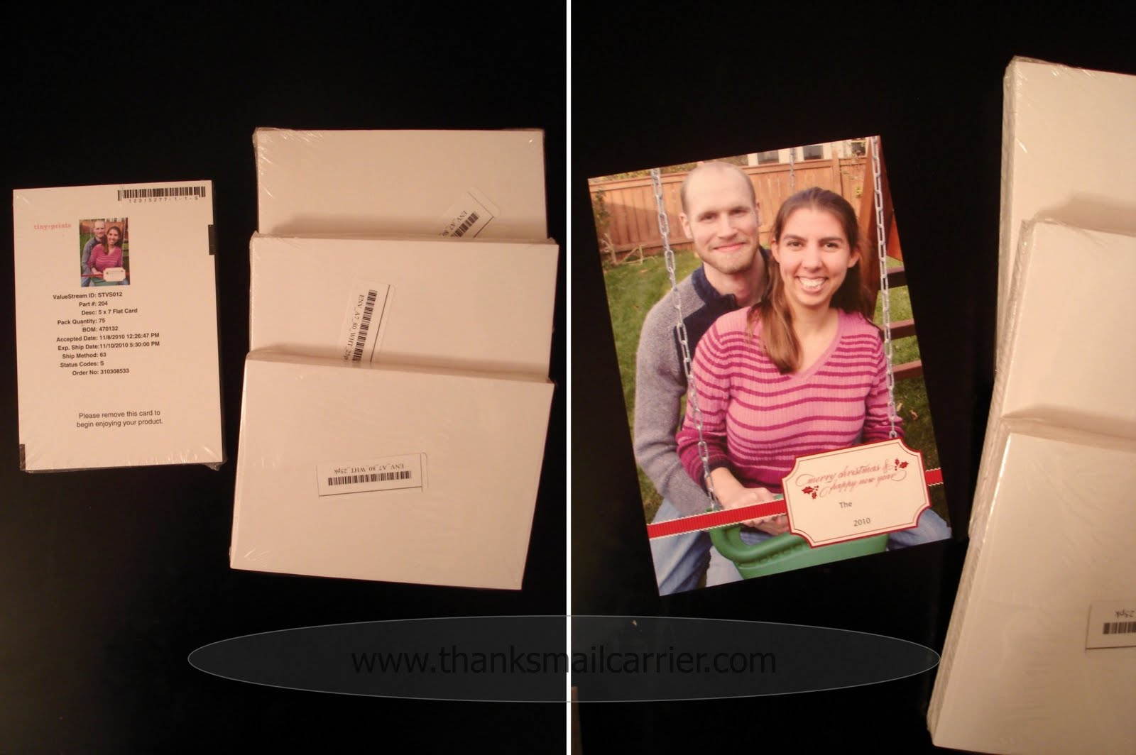 Thanks mail carrier tiny prints holiday cards review colourmoves