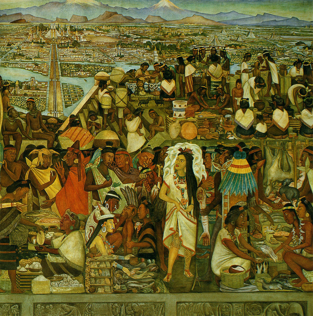 Michellesauza obras de diego rivera 3 for Diego rivera tenochtitlan mural