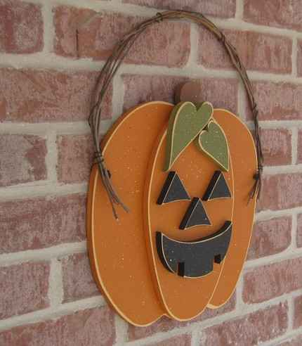 hanging jack o lantern pumpkin by lisa bees