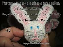 PAP COELHINHO DE TAMPA DE GARRAFA PET POR MARY