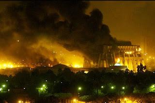 Así anocheció Bagdad hace ya cinco años