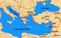 Mapa da Grécia e do Mediterrâneo