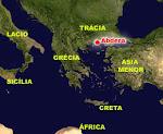 A cidade de Abdera e parte do mundo grego.