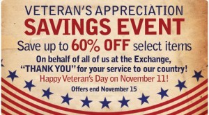 of veteran s day aafes exchange stores are having a 60 % off sale ...