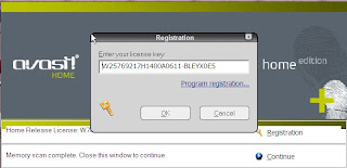 Renewing the avast! license key.