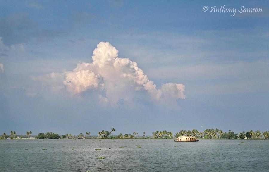 Boat house in backwaters of alleppy