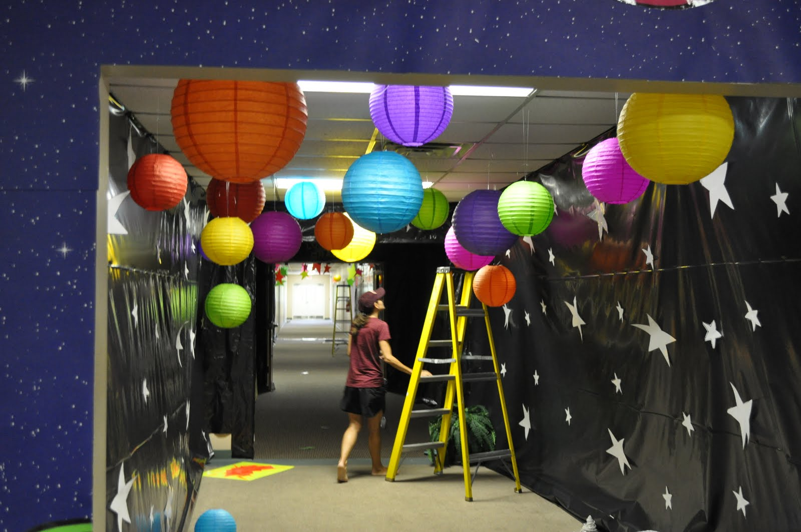 The noble family vbs for Outer space classroom decor