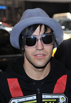 Pete Wentz along with Marisa Miller and Alessandra Ambrosio visited MTV's ...