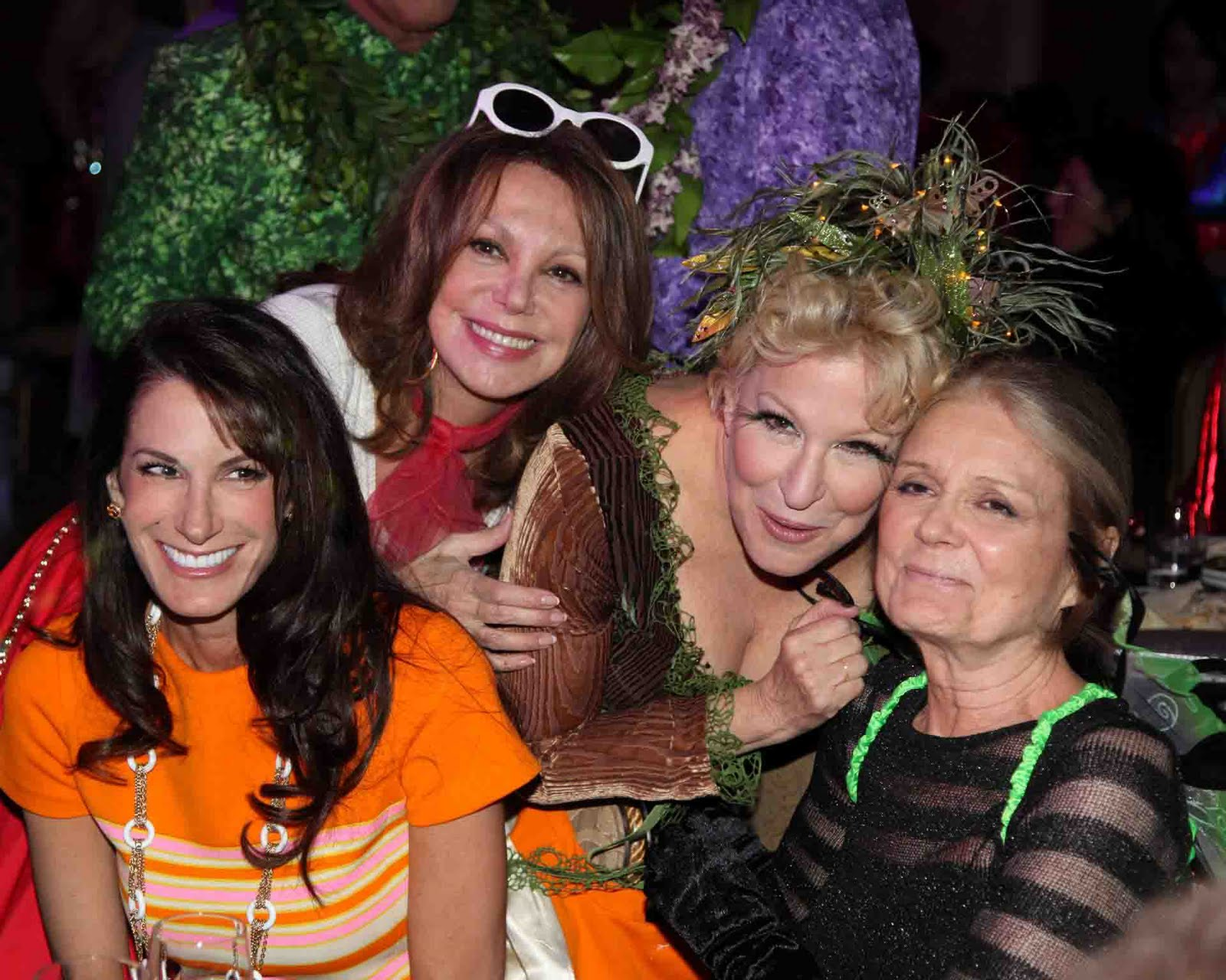 Nancy Armstrong With Marlo Thomas, Bette Midler And Gloria Steinem