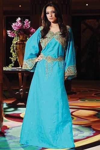 Blue and Gold Bridal Jalabiya