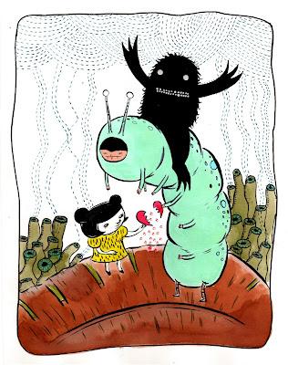 """Mending A Broken Heart"" Collaborative drawing by Aya Kakeda,"