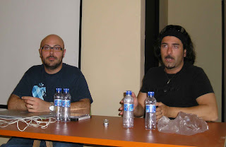Raúl y Niko creadores de Cálico Electrónico en Esecav este sábado 3 de marzo