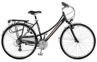 Bicicleta Author preta com suspensão, lembra uma Caloi Ceci