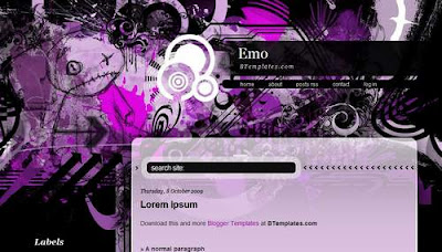 Emo Blogger Template