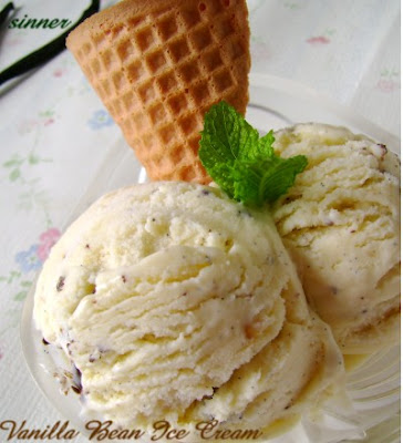 Vanilla Bean Ice Cream with choc chunks