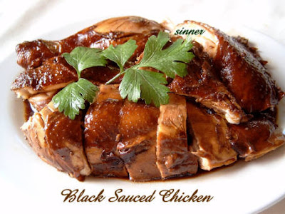 black sauce chicken