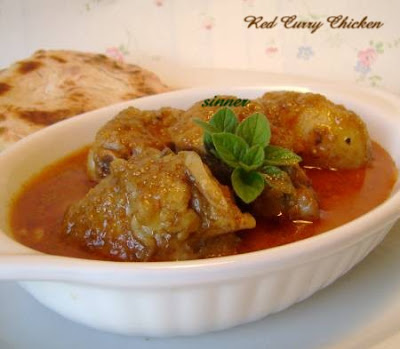 Curry chicken with homemade red curry paste