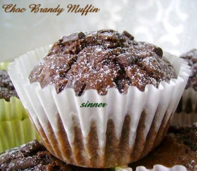 chocolate brandy muffin