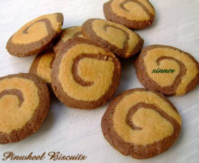 Refrigerator pinwheel biscuit
