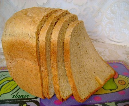 Healthy and light wholemeal bread