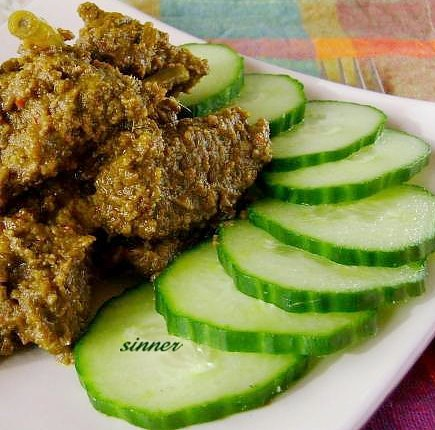 Malaysian dry beef rendang