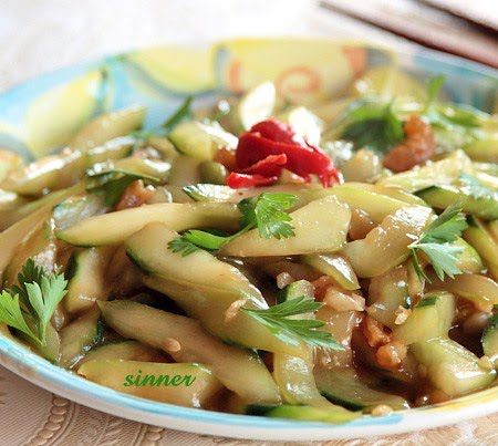 stirfry cucumber with oyster sauce