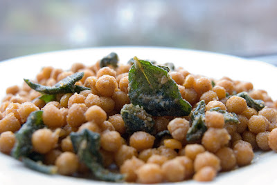 Fried Chickpeas with fresh sage