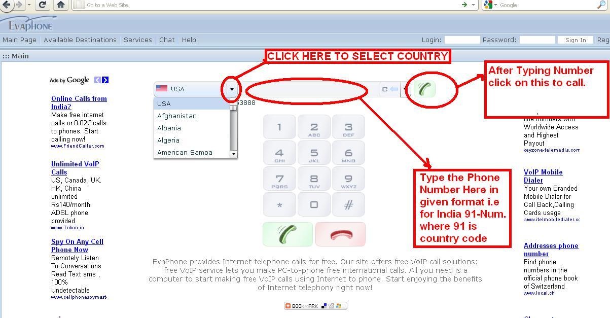 Make Free Phone Calls PC to Mobile or Landline