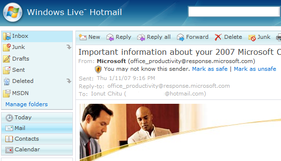 Windows live hotmail launches