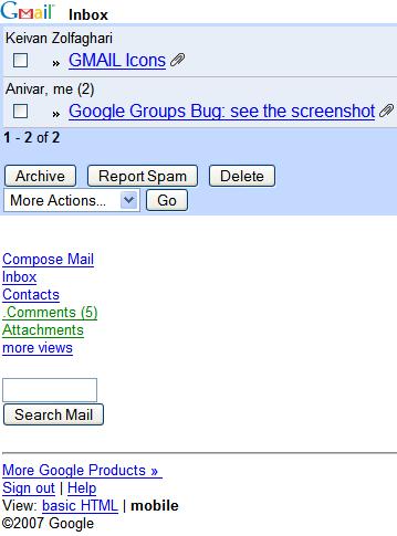 نرم افزار Gmail Mobile : برای چک کردن ایمیل گوگل – جاوا