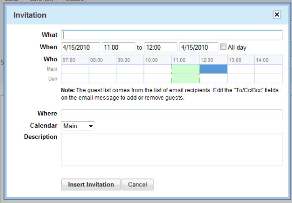 Gmails new interface for adding event invitations stopboris Gallery