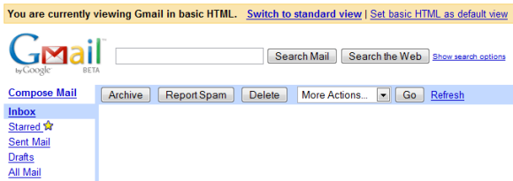 Set Basic HTML as Default Gmail View