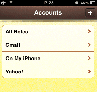 how to add gmail notes to iphone