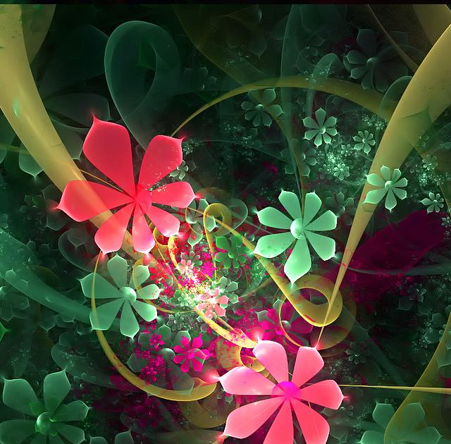 Mobile Wallpapers - Flower Art IPhone 4 Wallpaper