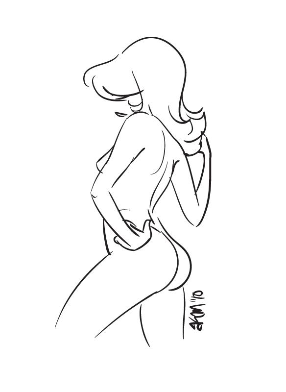 illustratorNudeSketch2 Artistic Nude Photography, female photography, photography, female body in ...