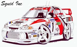 Mitsubishi rally cars