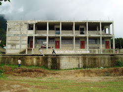 Panyebar Middle School after the second-story addition (June 2008)