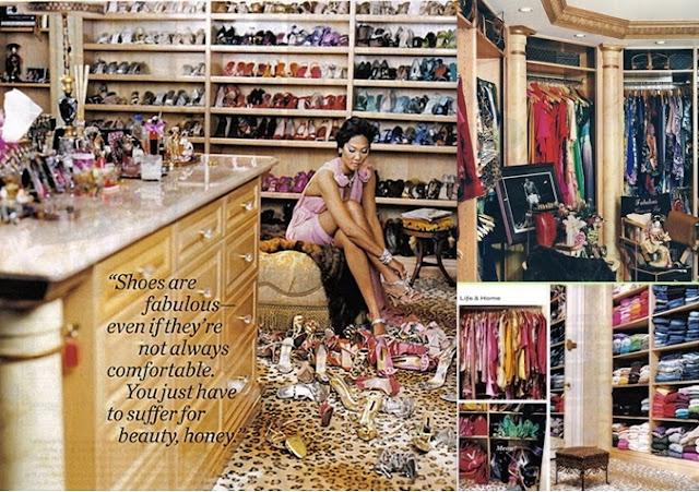 Dream closet. Walk in closet. Celebrity closets. Walk in closet ideas. Kimora Lee Simmons closet.