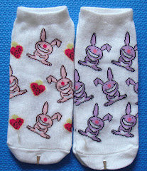 Happy Bunny Ankle Socks (in pink or purple)