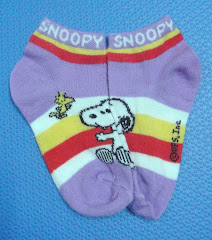 Snoopy & Woodstock Striped Socks