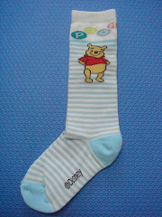 Pooh Striped Socks (mini knee-highs)