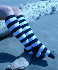 One Inch Black & White Stripes