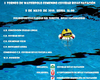 Waterpolo madrid torneo waterpolo femenino covibar rivas for Piscina municipal moscardo
