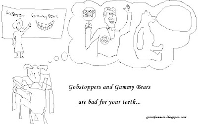 Gobstoppers and Gummy Bears bad for your teeth